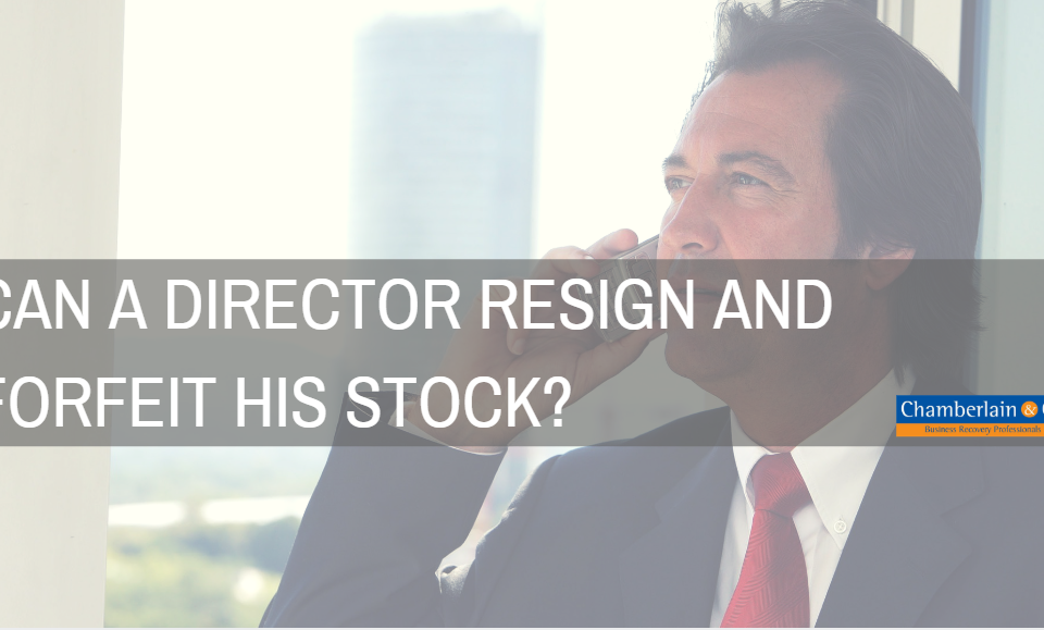 resignation of director